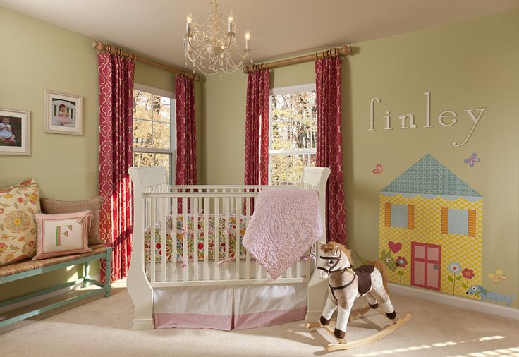 This nursery from @Lauren Nicole Designs is equal parts fun, elegant, traditional and just plain fab!: Girls Bedrooms, Design Ideas, Photos Kids, Kids Photos, Floors Design, Nurseries Design, Girls Nurseries, Kids Design, Kids Rooms