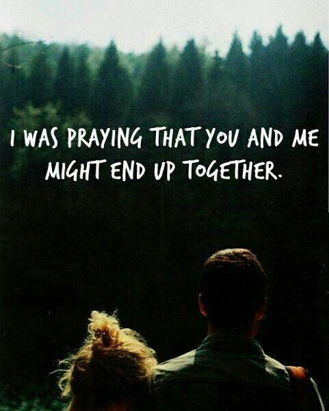 I was praying