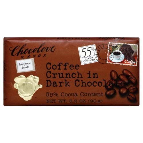 Chocolove Coffee Crunch in Dark Chocolate, 3.2 Ounce (Pack of 12) - http://bestchocolateshop.com/chocolove-coffee-crunch-in-dark-chocolate-3-2-ounce-pack-of-12/