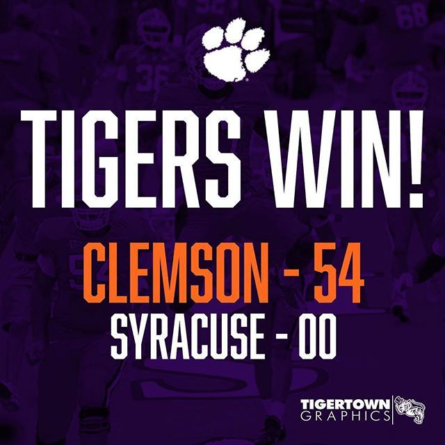 CLEMSON WINS!   Be on the lookout for a post-game giveaway from Tigertown Graphics tomorrow!
