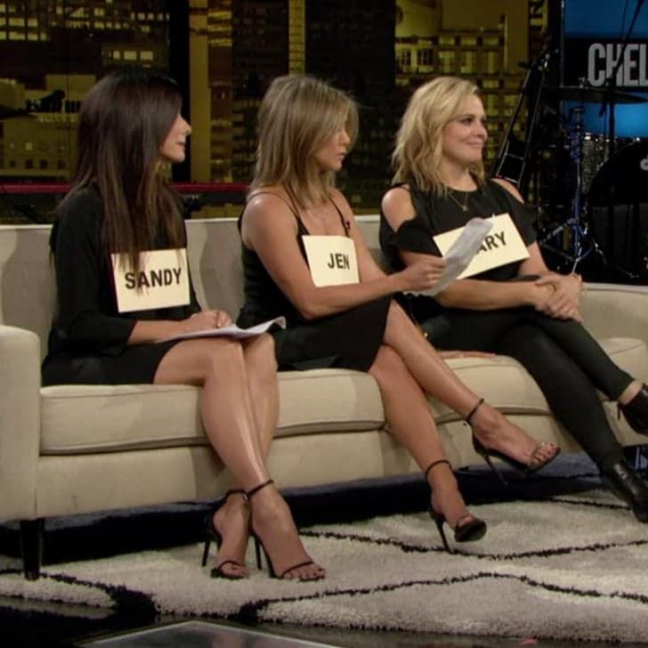 Pin for Later: Jennifer Aniston and Sandra Bullock Stage an Intervention For Chelsea Handler For Her Final Show