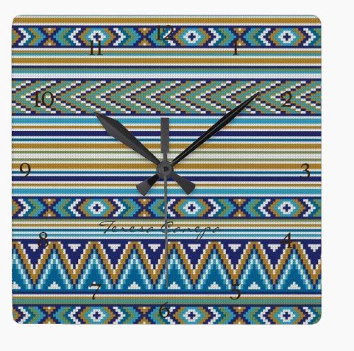 ✄ Reloj Mural  bordado a Punto de Cruz.  Tu Eliges El Diseño y Las Medidas !!!... Yo Te Hago el Patrón ! http://puntocruzandino.weebly.com/