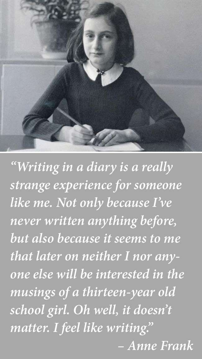 anne frank on keeping a diary