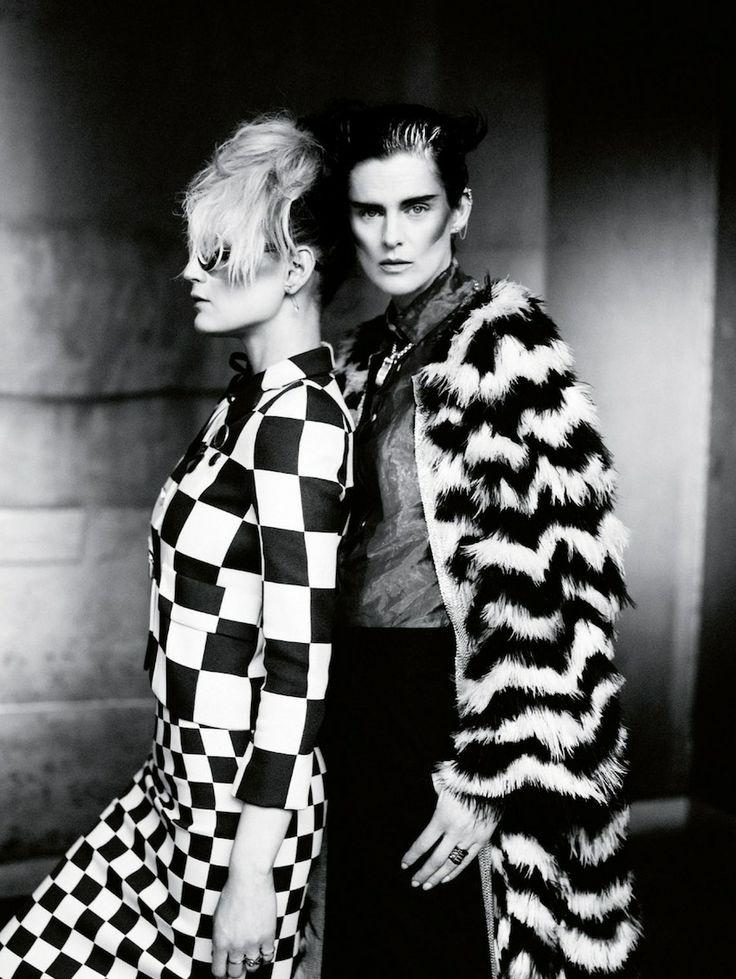Guinevere Van Seenus & Stella Tennant in Vogue UK May 2013 by Paolo Roversi