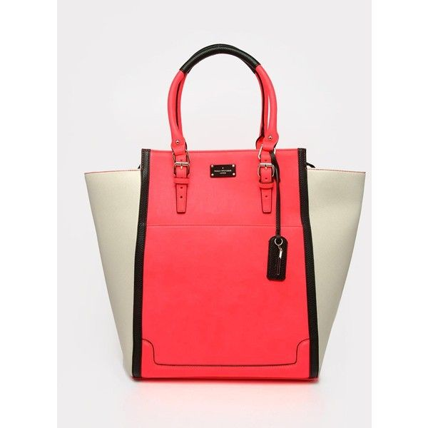 Pauls Boutique Tote Bag ($77) ❤ liked on Polyvore featuring bags, handbags, tote bags, coral, red tote purse, wing tote, tote purse, pauls boutique handbags and zip top tote