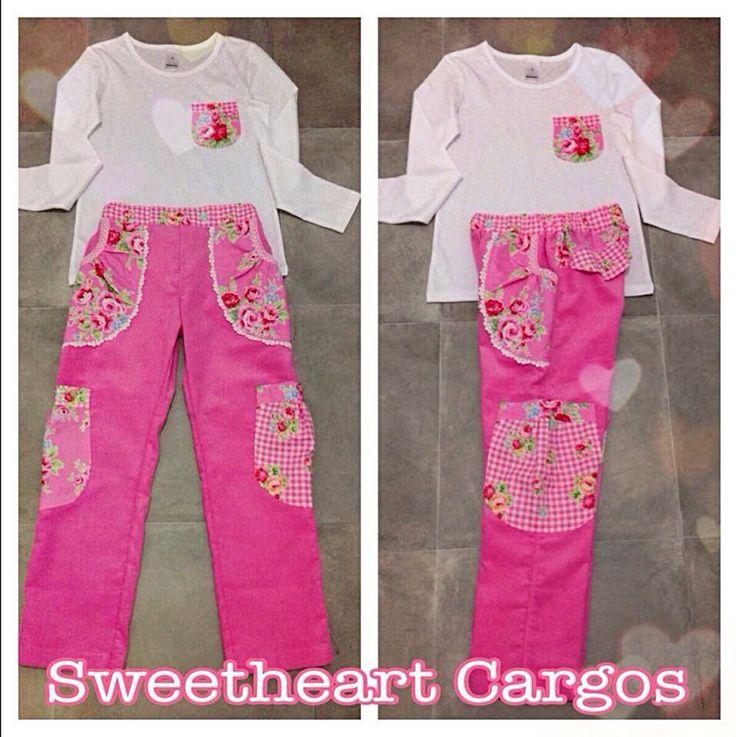 Made using the Pattern Emporium Sweetheart Cargo Pants pdf pattern