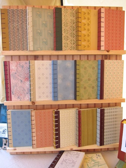 Blank books - boards made from old Reader's Digest Condensed Books. Wow! The only books it wouldn't kill me to use for crafts! Why haven't I thought of that?!?