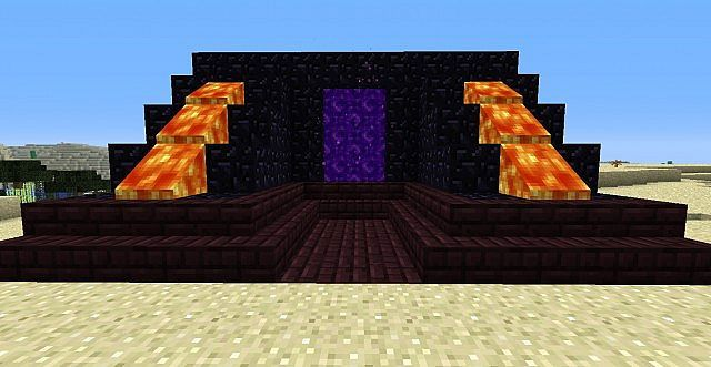 Nether Portal Decoration Minecraft Project