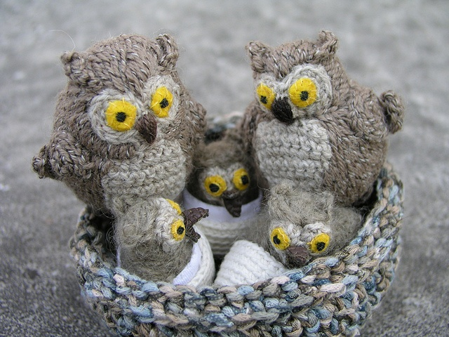 Amigurumi Owl Family : 881 best images about gufi alluncinetto on Pinterest ...
