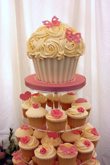 """Giant Cupcake Tutorial, using a chocolate shell cupcake """"wrapper"""""""