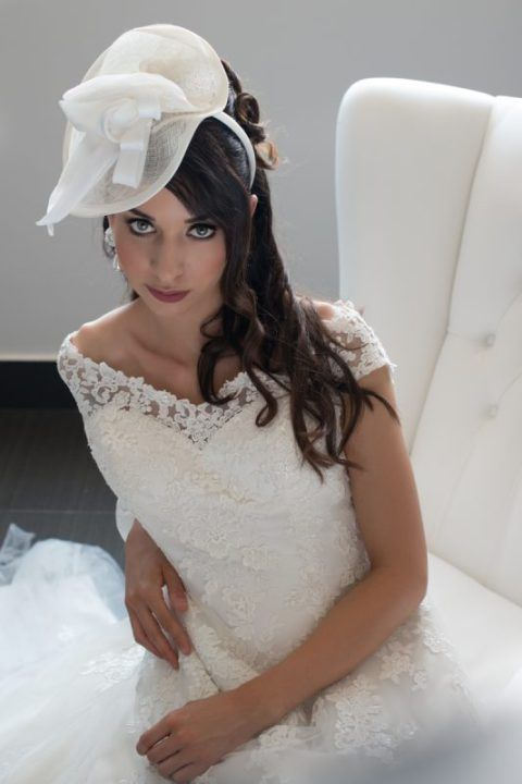 cappellino sposa. bridal hat fascinator.