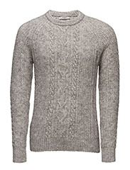 Cable-knit sweater - LT PASTEL GREY