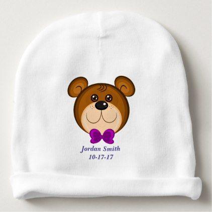 Baby's Cute Teddy Bear Bow Tie Baby Beanie - accessories accessory gift idea stylish unique custom