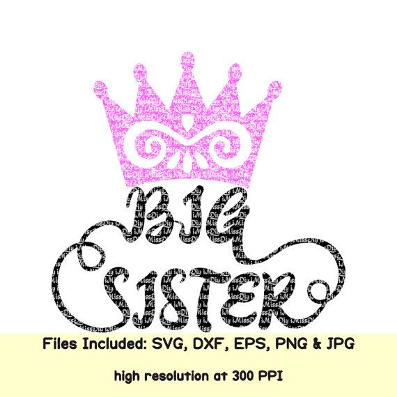 SVG Big Sister Cutting Files, Crown in Eps Dxf Jpg Png Files for Cricut & Silhouette, Shirt Mug Prints Designs Vector File, Instant Download #Big #Sister #Crown #little #girl #Digital #download, #shirt #outfit #mug #prints #yeti #Svg #Vector #Cut #Files, #Dxf #Clipart #Decal #Cuttable #Designs, #Screen #Printing,#HTV #Heat #Transfer #Vinyl #Cutting #File for #Silhouette #Cricut