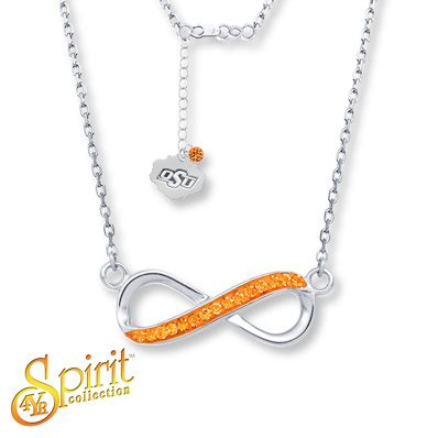 WANT!!!  Oklahoma State University Infinity Necklace Sterling Silver - $89.99