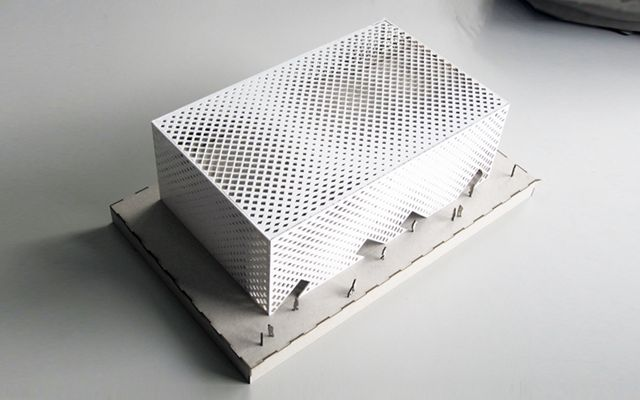 student work- parametric facade design for HPI biulding at ETH campus