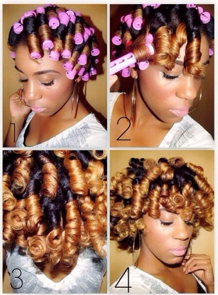 """""""Goldie Locks"""" Perm Rod Set   1. I rolled my hair on wet hair with medium size perm rods  2. Let air dry for 3 days (yes, I did nothing this weekend, plus I am trying to avoid heat and it's too hot for all that. Lol)  3. Unraveled and lightly separated  4. Fluffed with hair pick"""