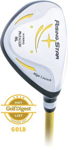 Paragon Rising Star Kids Junior Hybrid Iron Ages 5-7 Yellow
