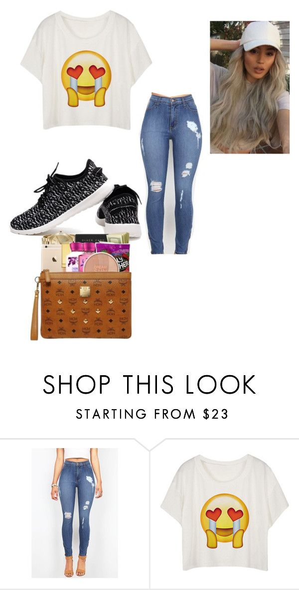 """""""That emoji explains my life"""" by chanel-xoxo123 ❤ liked on Polyvore featuring chic, roshe, distressedjeans and emojis"""