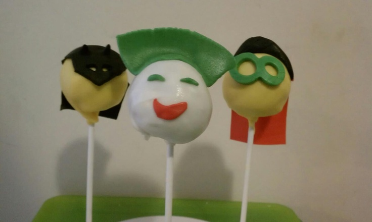 Batman And Joker Cake Pops