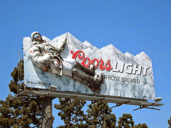 Coors Light 3D mountain climber billboard installation