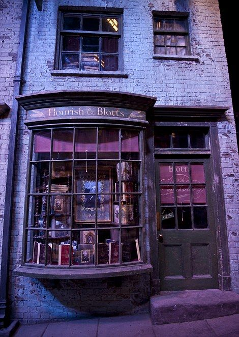 Flourish & Blotts from the sets of the Harry Potter movies