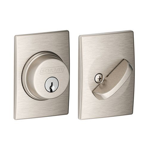 Schlage B60N CEN 619 Century Single Cylinder Deadbolt, Satin Nickel