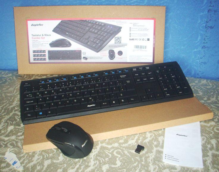 Wireless Tastatur & Maus Combo Set von EagleTec  Meinen Testbericht findet ihr hier:  https://linasophie77.wordpress.com/2016/09/19/wireless-tastatur-maus-combo-set-von-eagletec/