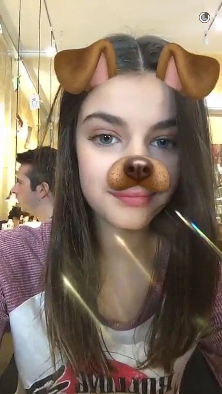 Sonia loves the dog filter on snapchat she posts using it