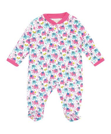 Look what I found on #zulily! Fuchsia Elephant Footie - Infant #zulilyfinds