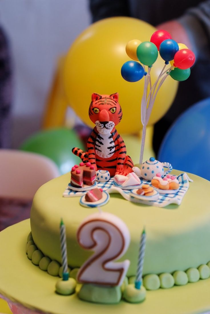 The Tiger Who Came To Tea Cute Cake Idea For Little Girl