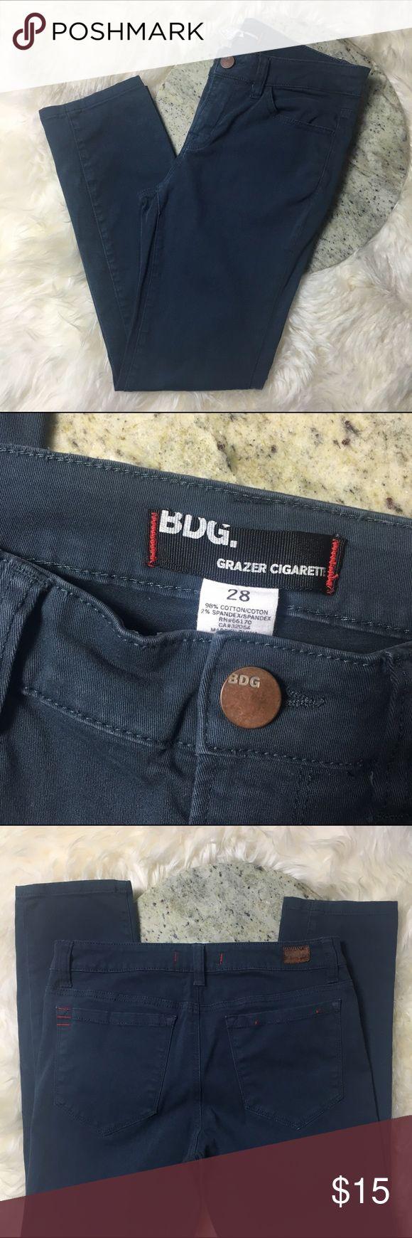 Navy Blue BDG Glazer Cigarette Pants Navy blue pants 98% Cotton 2% Spandex. Great pre owned condition! BDG Pants