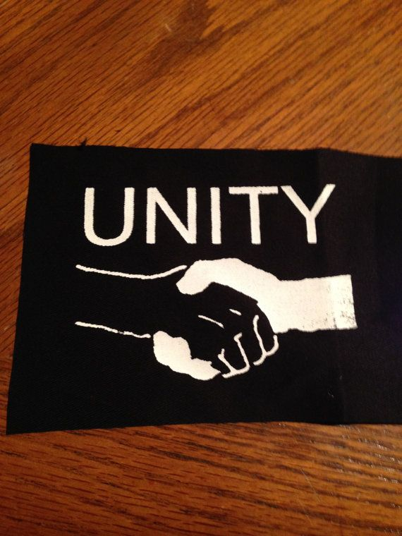 Unity Handshake Punk Patch by PatchTrash on Etsy