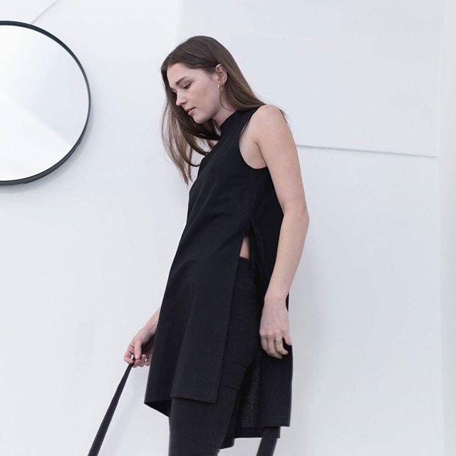 LUCI tunic dress in black. Get yours at @misenska10 .  #ootd #allblack #minimal #versatile #minimalfashion #ethicalfashion #valentinesday #outfitinspiration #linen #cotton