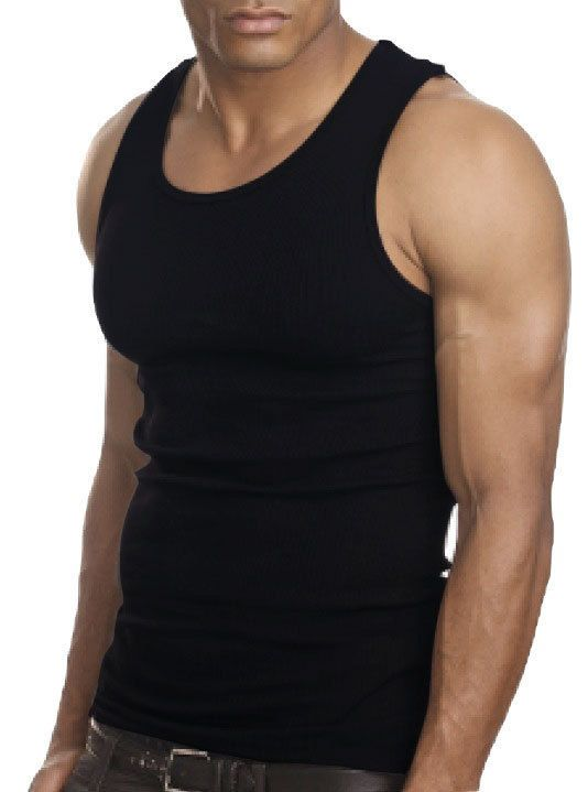 >> Click to Buy << Muscle Men Top Quality 100 Premium Cotton A Shirt Wife Beater Ribbed Tank Top #Affiliate