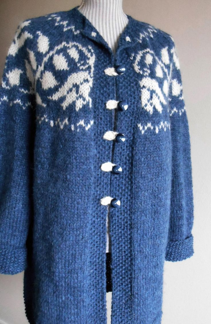 Beautiful women's coats - Hand Knitted with 100% Icelandic wool by ArtJak1 on Etsy