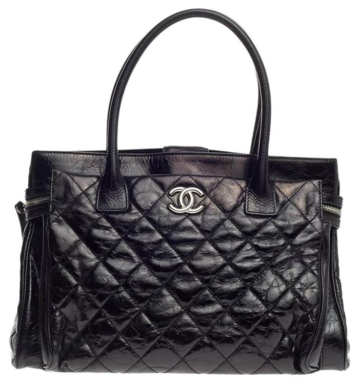 Chanel Executive Quilted Glazed Calfskin Large Black Tote Bag. Get one of the hottest styles of the season! The Chanel Executive Quilted Glazed Calfskin Large Black Tote Bag is a top 10 member favorite on Tradesy. Save on yours before they're sold out!