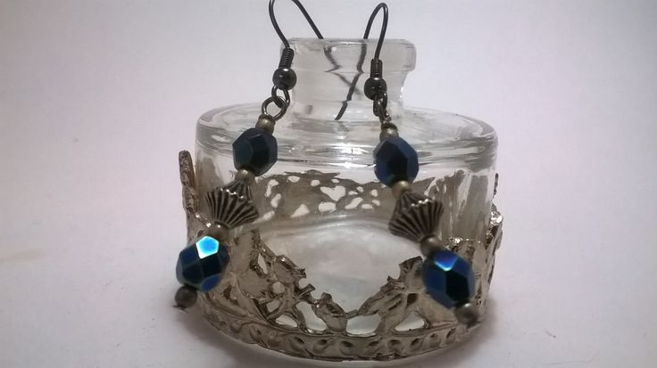 Midnight Victorian earrings - victorian styled earings by NJscollection on Etsy