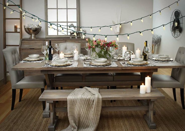 A feast for the senses. Urban Barn Chateau Dining Table.