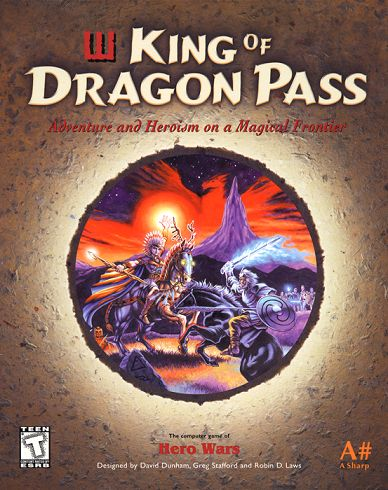 "The box of ""King of Dragon Pass"". King of Dragon Pass is a 1999 computer gamepublished by A Sharp. Set in the fictional world of Glorantha, it depicts the lives and fortunes of one of several barbarian clans, settling the untamed lands of Dragon Pass over the course of several decades. The clans bear some similarities, such as fyrds andlawspeakers, to the Iron Age Nordic peoples."