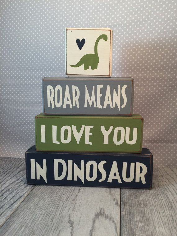Sign block dinosaur room decoration primitive by AppleJackDesign