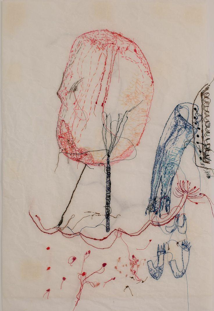 Kerttu Maukonen, thread on paper