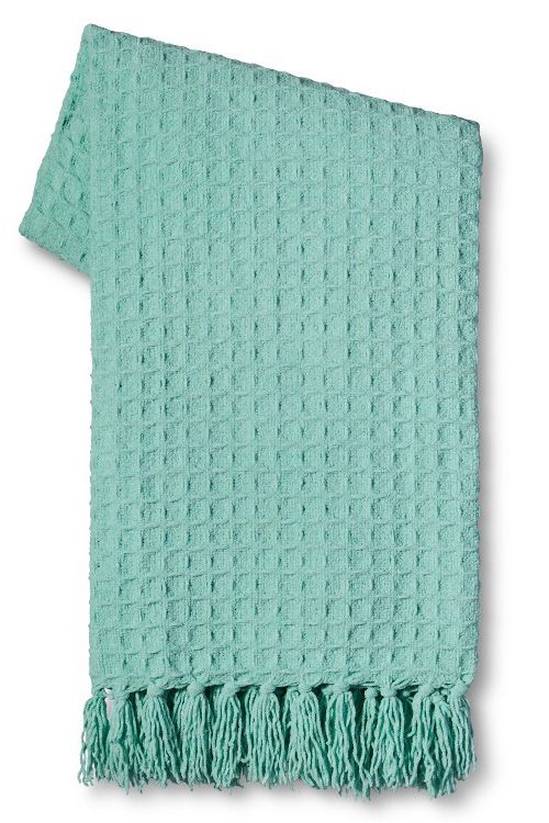 Basketweave Chenille Throw - Everything TurquoiseEverything Turquoise