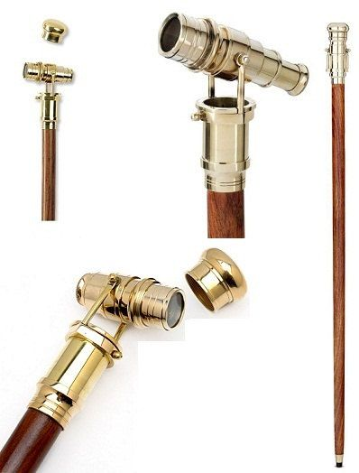 Telescope Walking Stick - this is just really cool, even if I can't think of a situation where I could carry a cane without looking like a dick :P