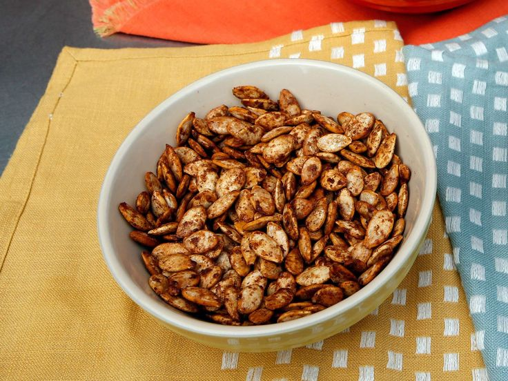 Pumpkin Spiced and Sugared Pumpkin Seeds recipe from The Kitchen via Food Network