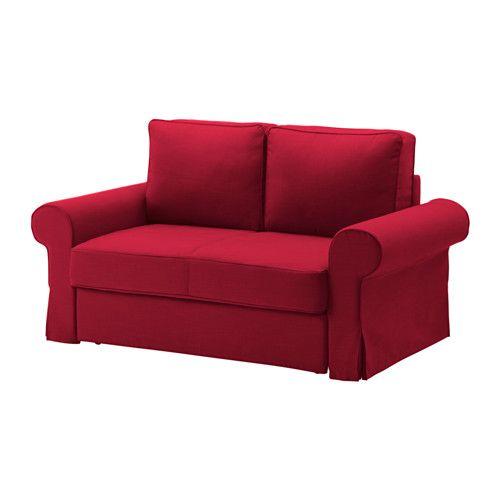 IKEA - БАККАБРУ, Диван-кровать 2-местный, -, Нордвалла красный, , Пружины карманного типа равномерно распределяют нагрузку и позволяют позвоночнику сохранять правильное положение во время сна.Жесткий матрас обеспечивает хорошую поддержку, можно использовать каждый день.Прочная ткань чехла из хлопка и полиэстера обладает выразительной фактурой.Отделение под сиденьем для хранения постельного белья и т.п.Съемный чехол легко содержать в чистоте, так как его можно стирать в машине.Диван быстро и…