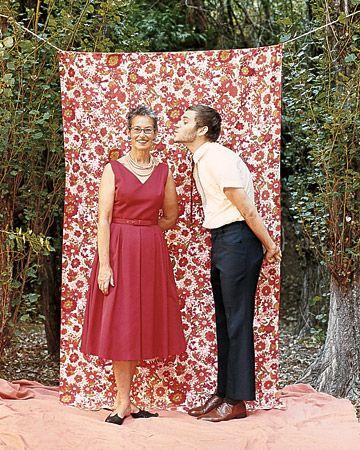 Fabric photo booth.