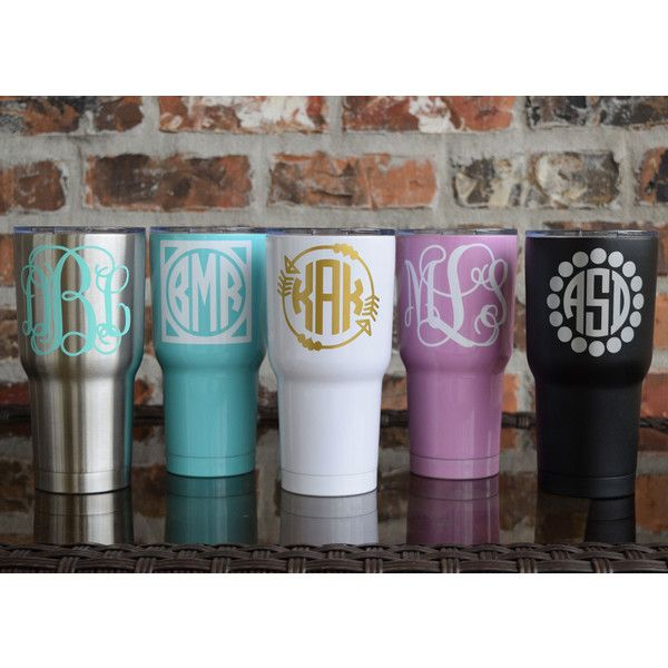 Sic 30 Ounce Glacier Tumbler Monogrammed Stainless