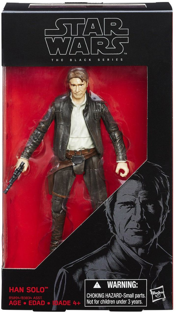 Star Wars the Black Series 6 Inch Han Solo (Old Han) The Black Series action figures from The Force Awakens! It's your chance to get your favorite characters as an exquisitely detailed 6-inch tall act