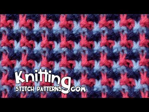 Triple L Tweed stitch   Mosiac knitting